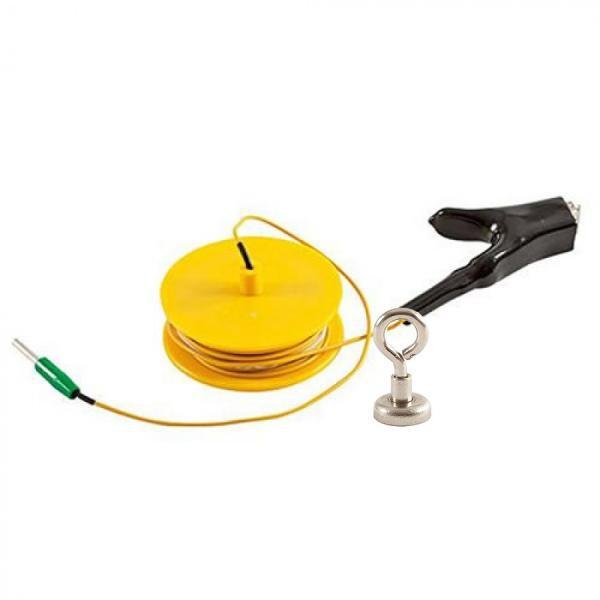 Erdungskabel 10m auf Haspel (gelb) mit Magnetkontakt | Radiodetection